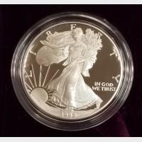 1992-S Silver American Eagle 1 Ounce Proof Bullion Coin