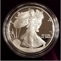 1993-P Silver American Eagle 1 Ounce Proof Bullion Coin