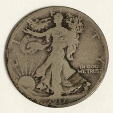 1917-D Walking Liberty Half Dollar Reverse Mint Mark