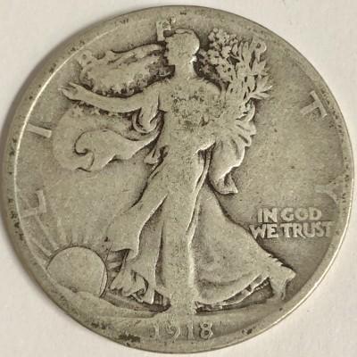 1918-D Walking Liberty Half Dollar