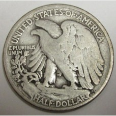 1929-D Walking Liberty Half Dollar VG-08