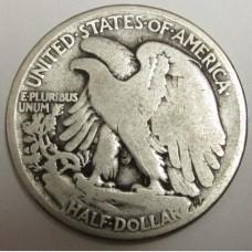 1934-D Walking Liberty Half Dollar VG