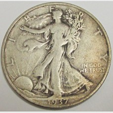 1937-S Walking Liberty Half Dollar