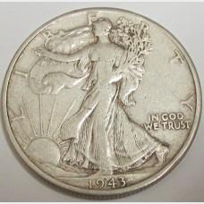 1943-D Walking Liberty Half Dollar
