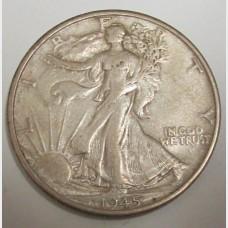 1945-S Walking Liberty Half Dollar