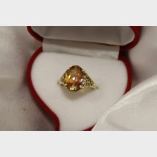 Imperial Topaz Yellow Gold Ring