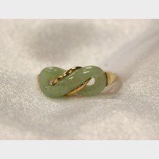 14K Yellow Gold Ring with Jade