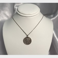 Sterling Silver Necklace with Mercury Dime Pendant