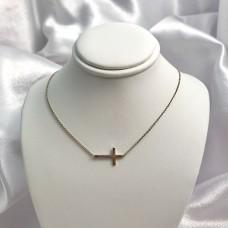 Sterling Silver Interlock Cross Necklace