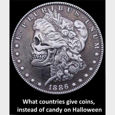 Halloween, Trick or Treat, and Coins