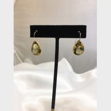14K Yellow Gold Pear Shaped Citrine Drop Earrings