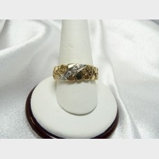 Men's 14K Yellow Gold and Diamonds Band