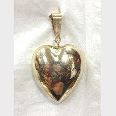 14 K Yellow Gold Heart Pendant