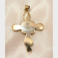 Mexican Sterling Silver Cross Pendant