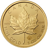 Canadian Gold Maple Leaf (1 ozt)