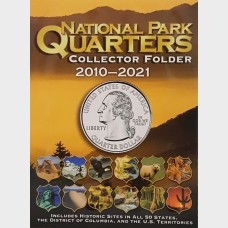 Whitman National Park Quarters Collection Folder 2010-2021