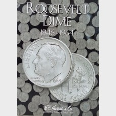 Whitman Roosevelt Dime Collection Album 1946-1964