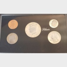 1993-S U.S. Mint Premier Silver Proof Set 5 Total Coins w/Box and COA