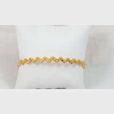 Diamond Cut Gold Bangle Bracelet