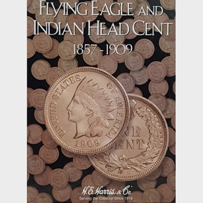 Flying Eagle and Indian Cent Head Cent 1857-1909 Coin Album