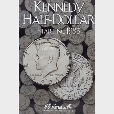 Kennedy Half-Dollar Starting 1985 Coin Album