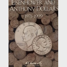 Eisenhower and Anthony Dollars 1971-1999 Coin Album