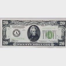 $20 Federal Reserve Note 1934 FR2054 AA Block CH63