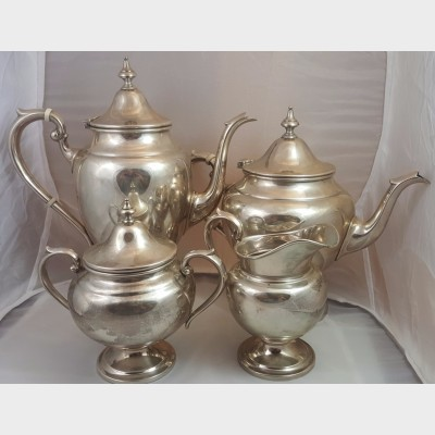 Gorham Sterling Silver 4 Piece Complete Coffee Tea Pot Set