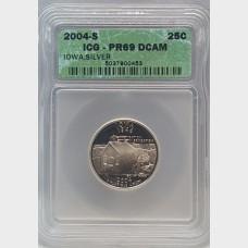 2004-S Iowa Silver State Quarter 25¢ ICG PR69 DCAM