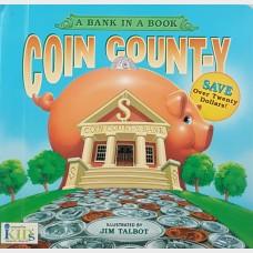 A Bank In A Book Coin Count-Y Coin Album and Saver