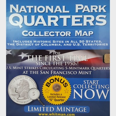 National Park Quarters Collector Map Album