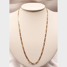 "Men's 19"" 14K Link Gold Chain"