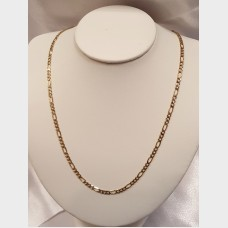 "Men's 22"" 14K Link Gold Chain"