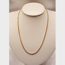 "Men's 18"" 14K Rope Gold Chain"