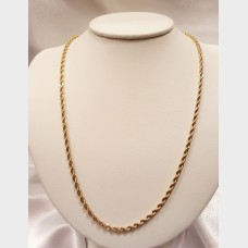 "Men's 30"" 14K Rope Gold Chain"