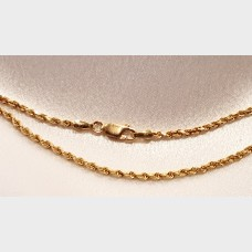 "Men's 16"" 14K Rope Gold Chain"