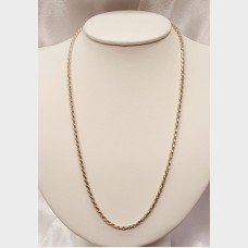"Men's 19"" Sterling Silver Rope Chain"