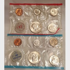 1962 Uncirculated U.S. Mint Set No Envelope
