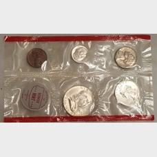 1963 Uncirculated U.S. Mint Set No Envelope