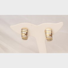 Bvlgari Two Tone Tubogas Earrings