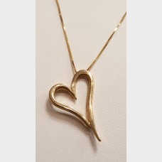 14KT Gold Necklace and Heart Pendant