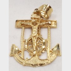 14KT Anchor Crucifix Pendant