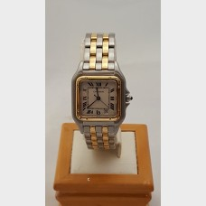 Cartier Panthere 2-Row 18K & Stainless Steel Midsize/Jr. Watch