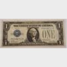 $1 Bill Series 1928A Silver Certificate Blue Seal FR1601 Fine