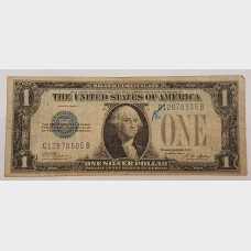 $1 Bill Series 1928A Silver Certificate FUNNY BACK Note FR1601 VG