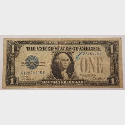$1 Bill Series 1928A Legal Tender Note FR1601 VG