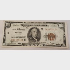 $100 1929 Federal Reserve Bank Small Note FR1804 CH63