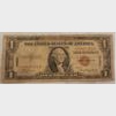 $1 Bill Series 1935A Hawaii Emergency Star Note FR2300★ GD