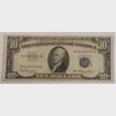 $10 Bill Series 1953 Silver Certificate FR1706 Fine