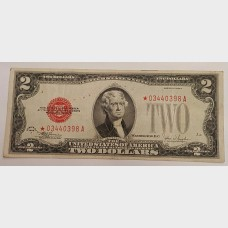 $2 Series 1928F Legal Tender Star Note FR1507★ F